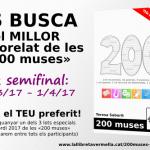 «Cues de pansa» guanya la 1a semifinal de les «200 muses». Comença la 2a: fins l'1 d'abril!