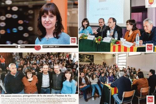20170501-Cronica_Sant_Jordi_2017-02-Presentacio_Institut_IES_Vic-Escriptors_visiten_Osona-Els_llops_ja_no_viuen_als_boscos-Teresa_Saborit