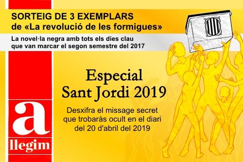 20190420-LaRevoluciodelesFormigues-SorteigEspecialSantJordi2019-missatge_secret-Diari_Ara