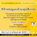 #FormiguesEscapeRoom - El primer escape room virtual basat en una novel·la negra!