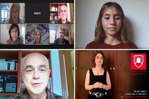 20201121-Entrega_XXXII_Premis_Literaris_Gurb-Festa_Major-Phoebe_Serres-Juli_Capilla-Pilar_Cabot