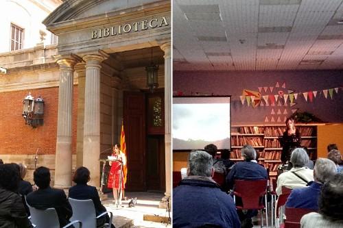20180421-Sant_Jordi-Teresa_Saborit-Tirant_lo_Blanc-Joanot_Martorell-Lletres_Parlament_Catalunya-Biblioteca_Publica_Tarragona