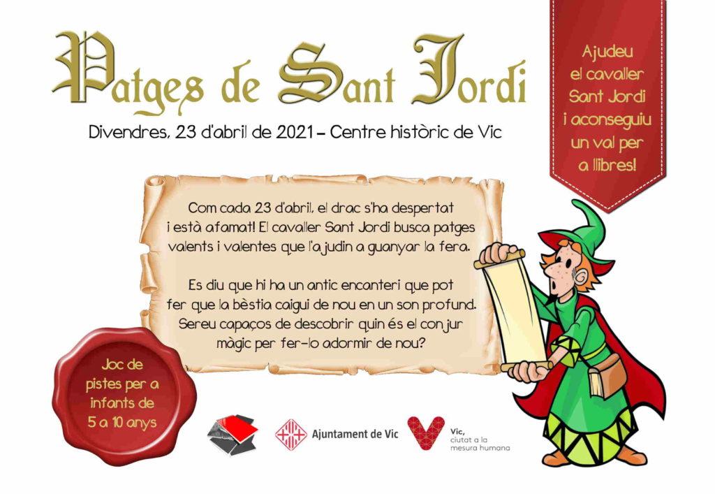 20210423-Patges_Sant_Jordi-Llegenda_cavaller_princesa_drac_castell-Vic-Joc_pistes